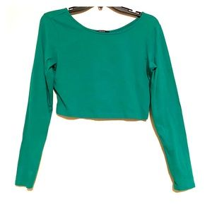 Green Crop Top Forever 21